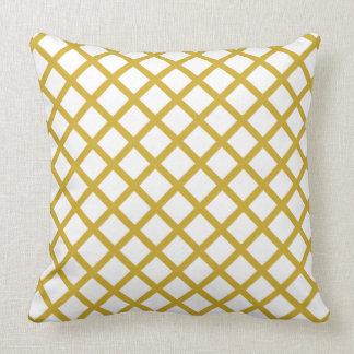 Gold u. weißer Grad ein BaumwollWurfs-Kissen 20x20 Kissen