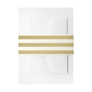 Gold-und Elfenbein-mutiger Streifen Einladungsbanderole