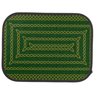 Gold und Grün-keltische rechteckige Spirale Automatte