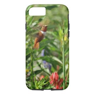 Gold und grüne Kolibrirot Blumen iPhone 8/7 Hülle