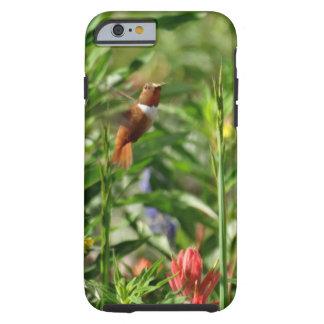 Gold und grüne Kolibrirot Blumen Tough iPhone 6 Hülle