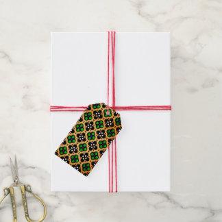 Gold und grüner Feiertag Bling Geschenkanhänger