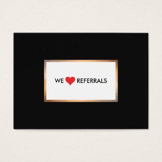Gold und schwarze Kunden-Anerkennungs-Empfehlung Jumbo-Visitenkarten