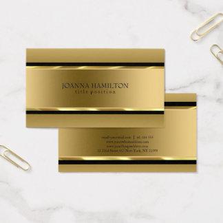 Gold und schwarze Streifen Visitenkarte