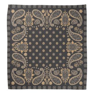 Gold und schwarzer Bandana Halstücher