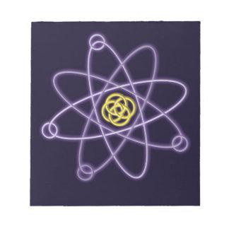 Gold-und Silber-Atomstruktur Notizblock