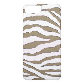 Gold-und SilberZebra Stripe iPhone 7 Kasten iPhone 8 Plus/7 Plus Hülle