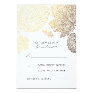 Gold verlässt Hochzeit im Herbst UAWG Karten 8,9 X 12,7 Cm Einladungskarte