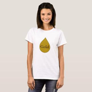 Gold, welches das 1-jährige T-Shirt der