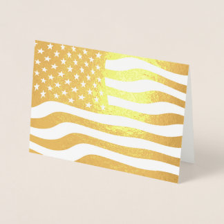 Goldamerikanische Flagge USA Folienkarte
