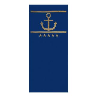 Goldanker auf Marineblauhintergrund Werbekarte