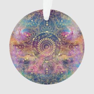 GoldAquarell und Nebelfleck-Mandala Ornament