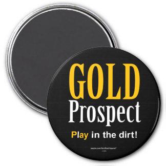 Goldaussicht Runder Magnet 7,6 Cm