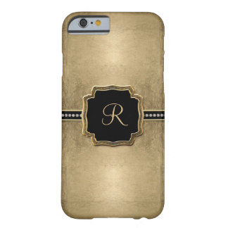 Goldblatt-Blick-Lilien-Imitat-Vintages Juwel Barely There iPhone 6 Hülle