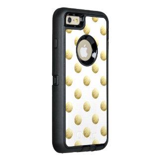Goldblatt-Foto-Polkapunkte OtterBox iPhone 6/6s Plus Hülle