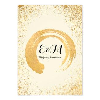 Goldblatt-Spray-Hochzeits-Einladung Karte