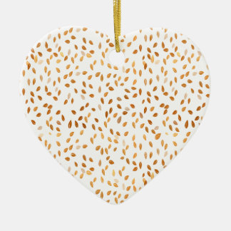 Goldblattconfetti-Muster Keramik Ornament