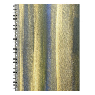 Goldblaue Linien Foto-Notizbuch (80 Seiten B&W) Notizblock