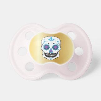 Goldblauer Süßigkeits-Schädel-Schnuller Schnuller