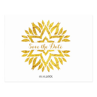 Goldblick-Sternmandala-Schläger Mitzvah Save the Postkarte