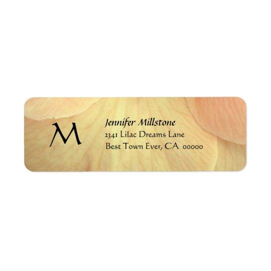 GOLDBlumen-Blumenblätter, die Adressen-Etikett