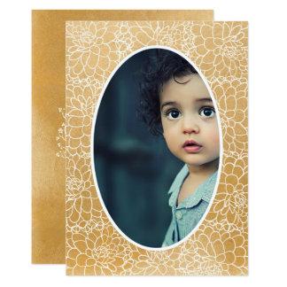 Goldblumenfeld-Foto Weihnachtsfeiertagskarte 12,7 X 17,8 Cm Einladungskarte
