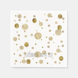 GoldBokeh Confetti-Punkte Servietten