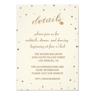 Goldconfetti-Champagne-Hochzeit führt den Empfang Karte