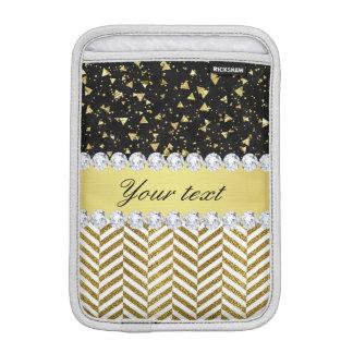 Goldconfetti-Dreieck-Sparren-Diamant Bling iPad Mini Sleeve