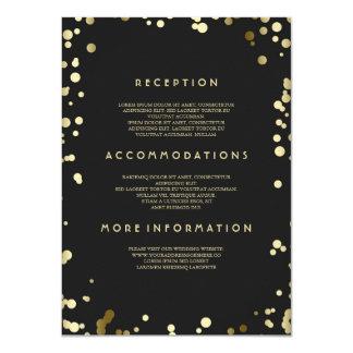 Goldconfetti-Hochzeits-Details - Informationen 11,4 X 15,9 Cm Einladungskarte