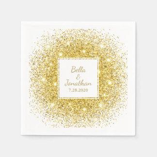 Goldconfetti-romantische elegante serviette
