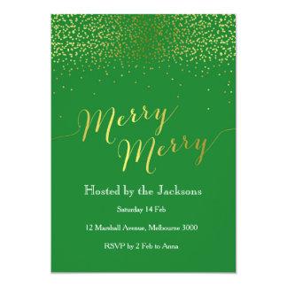 Goldconfetti-WeihnachtsParty Einladung