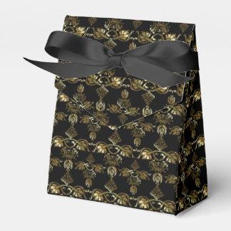 Golddamast-Art-Muster-Bevorzugungs-Kasten Geschenkschachtel
