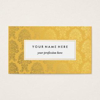 Golddamast auf gelbes Goldmuster-Visitenkarte Visitenkarte