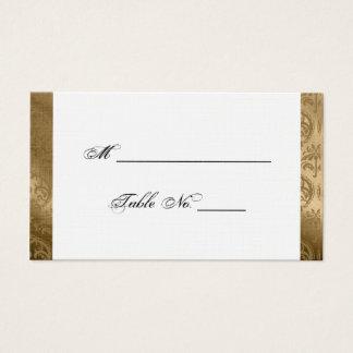 Golddamast-Silk Posh Hochzeits-Platzkarten Visitenkarte