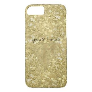 Golddiamant-Glittery Schein und Glanz iPhone 8/7 Hülle