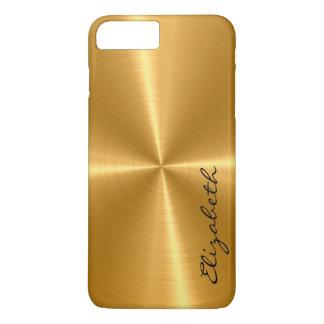 GoldEdelstahl-Metallblick iPhone 8 Plus/7 Plus Hülle
