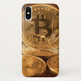Golden Bitcoin cryptocurrency phone cover