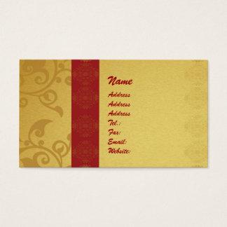 Golden  business card 2 sided printed visitenkarte