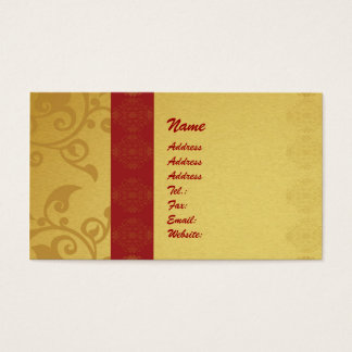 Golden  business card 2 sided printed visitenkarten