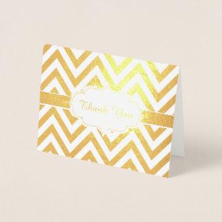 Golden danke Zickzack Zickzack-Muster Folienkarte