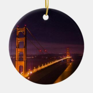 Golden gate bridge nachts keramik ornament