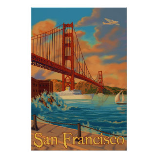 Golden gate bridge - San Francisco, CA-Plakat Poster