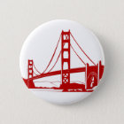 Golden gate bridge - San Francisco, CA Runder Button 5,1 Cm