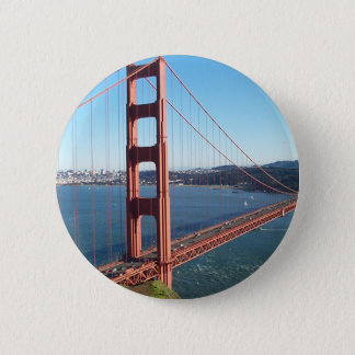 Golden gate bridge, San Francisco Runder Button 5,7 Cm