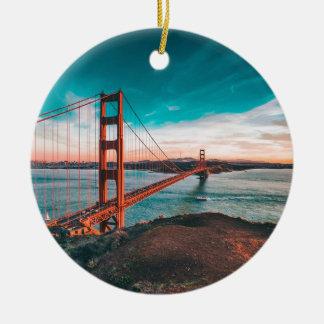 Golden gate bridge-Skyline Keramik Ornament