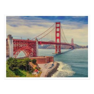 Golden- GateLiebe Postkarte