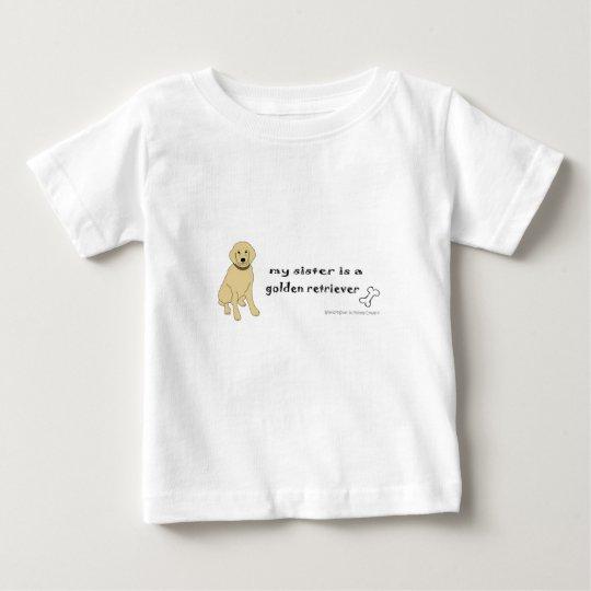 golden retriever baby t-shirt