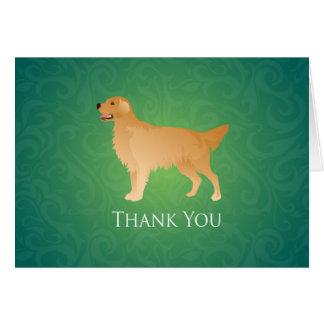 Golden retriever danken Ihnen Karte