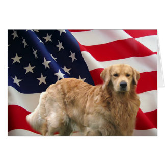 Golden retriever-Eddie-Flagge-Karte Karte